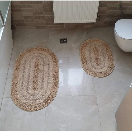 Набір овальних килимків для ванної Cotton Way беж