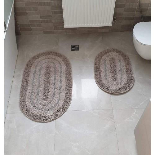 Набір овальних килимків для ванної Cotton Way коричневий
