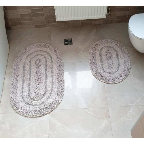Набір овальних килимків для ванної Cotton Way пісочний