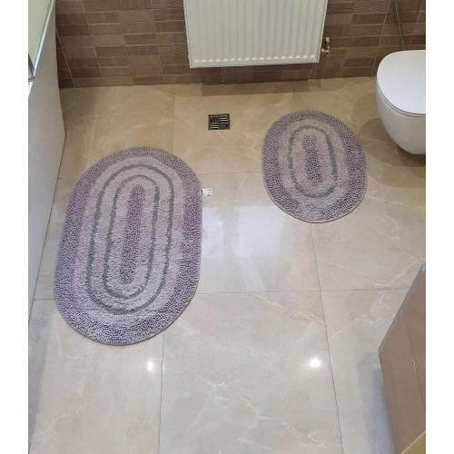 Набір овальних килимків для ванної Cotton Way сірий