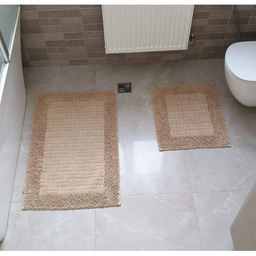 Набор ковриков для ванной Mosso плетенка беж