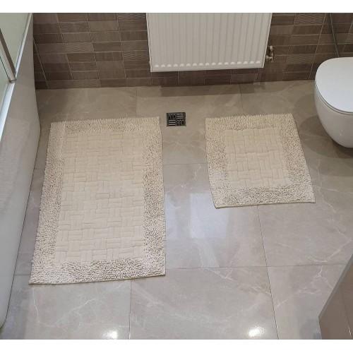 Набор ковриков для ванной Mosso плетенка крем
