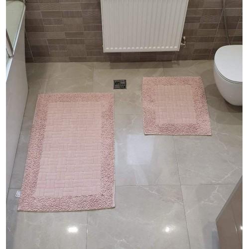 Набор ковриков для ванной Mosso плетенка пудра