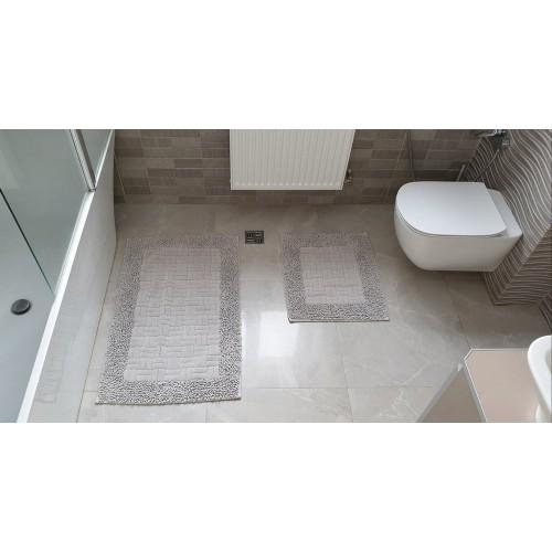 Набор ковриков для ванной Mosso плетенка серая