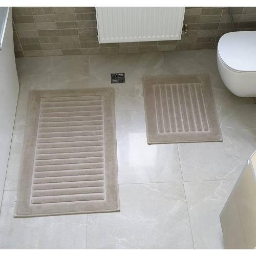 Набір килимків для ванної Cotton Mat коричневий