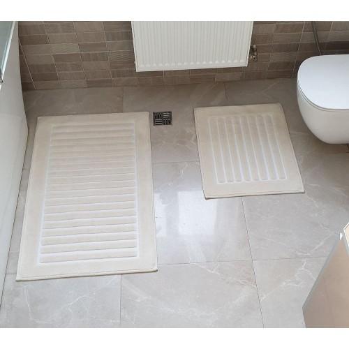 Набір килимків для ванної Cotton Mat крем
