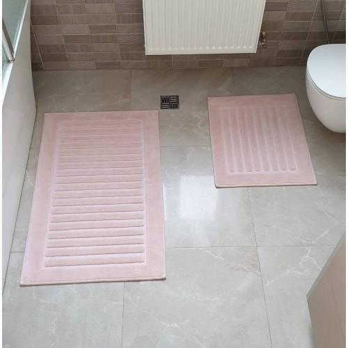 Набір килимків для ванної Cotton Mat пудра