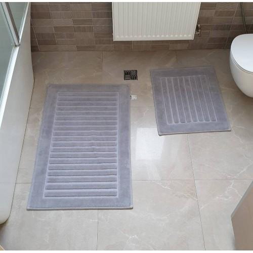 Набір килимків для ванної Cotton Mat сірий