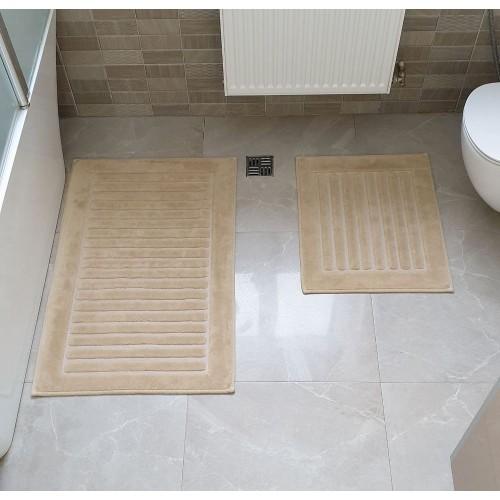 Набір килимків для ванної Cotton Mat бежевий