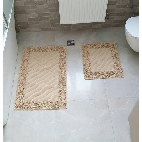 Набор ковриков для ванной Mosso волна беж