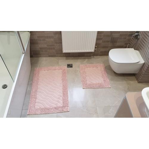 Набор ковриков для ванной Mosso волна пудра