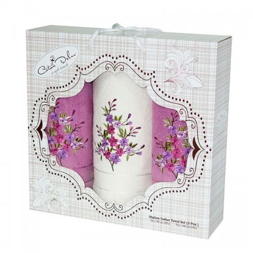 Набор полотенец подарочный Малина - 3