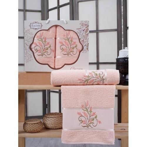 Набор полотенец Gursan Cassia персиковое