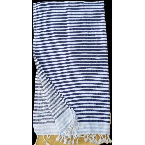 Пештемаль  полотенце для пляжа и бани полоска серая