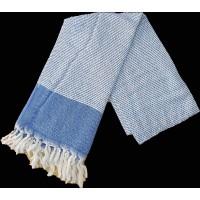 Пештемаль  полотенце для пляжа и бани ромб синий