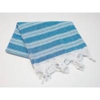 Пештемаль  полотенце для пляжа и бани линия голубая
