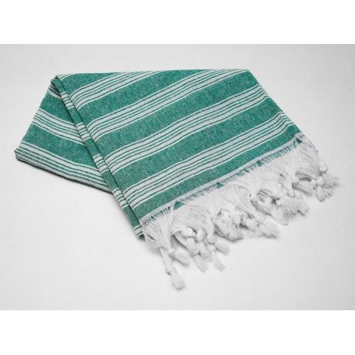 Пештемаль  полотенце для пляжа и бани линия зеленая