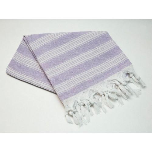 Пештемаль  полотенце для пляжа и бани линия пурпурная