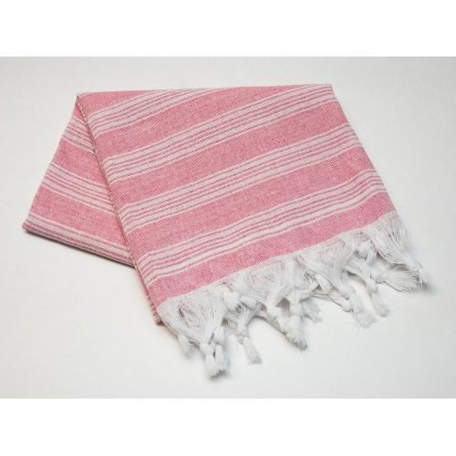 Пештемаль  полотенце для пляжа и бани линия розовая