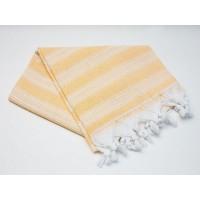 Пештемаль  полотенце для пляжа и бани линия желтая