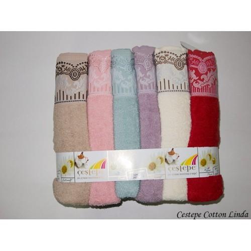 Комплект полотенец  6 шт Cestepe Vip cotton Linda