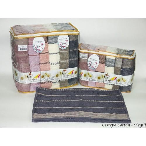 Комплект полотенец  6 шт Cestepe Vip cotton Cizgili