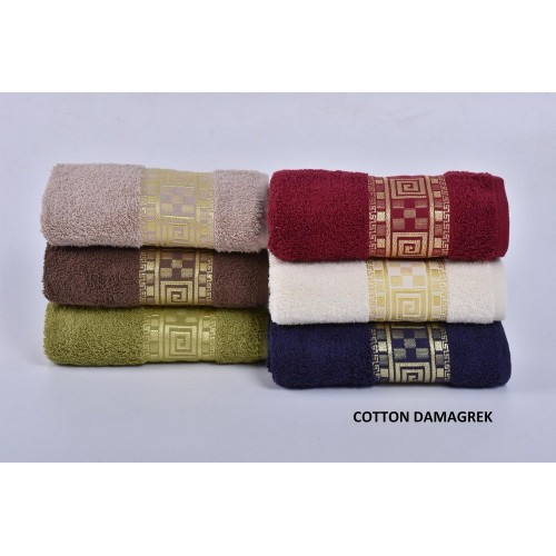 Комплект полотенец  6 шт Cestepe Vip cotton Dama Grek