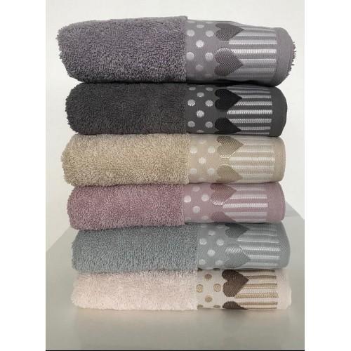 Комплект полотенец  6 шт Cestepe Vip cotton Kalpli Inci