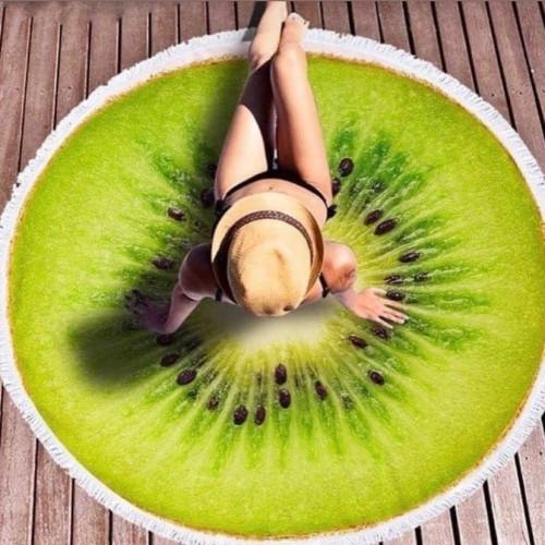 Полотенце пляжное круглое - Киви