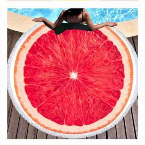 Полотенце пляжное круглое - Грей