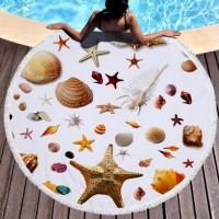 Полотенце пляжное круглое - Звезда