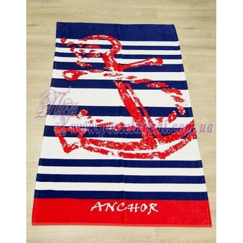 Полотенце пляжное Якорь