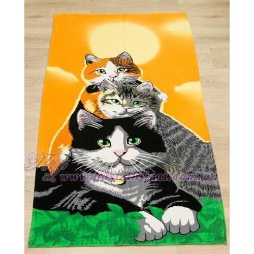 Полотенце пляжное Кошки