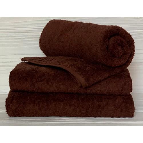 Туркменское махровое полотенце Кофе