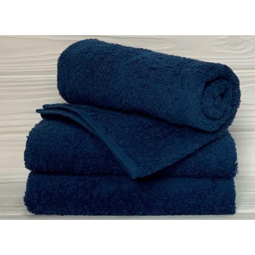 Туркменское махровое полотенце Синее