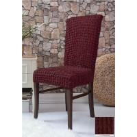 Чехлы на стулья 6 штук - бордо