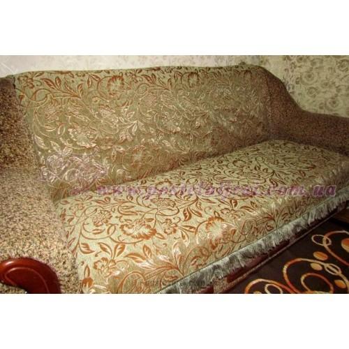 Шеніловий дивандек Жанет - зеленый