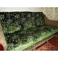 Дивандек велюровый Фейерверк- зеленый