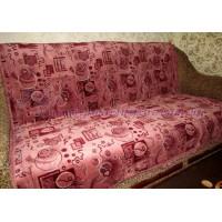 Дивандек велюровый Круги - розовый
