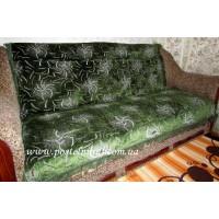 Дивандек велюровый Паучки - зеленый