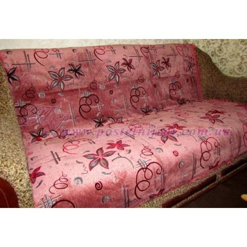 Дивандек велюровый Звезда - розовый
