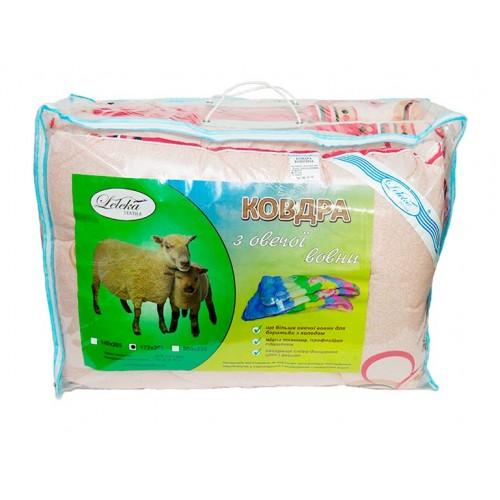 Ковдра з овечої вовни эконом Leleka-Textile
