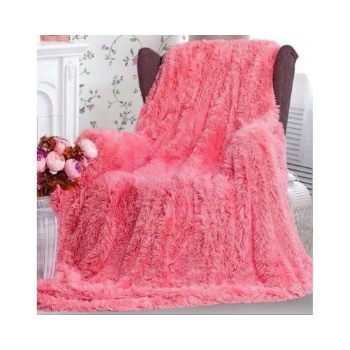 Покривало хутряне розовое