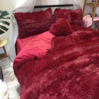 Покрывало одеяло Мишка бордо