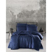 Постельное белье Ecosse страйп Lacivert Dark Blue